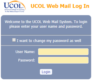 Webmail and password reset